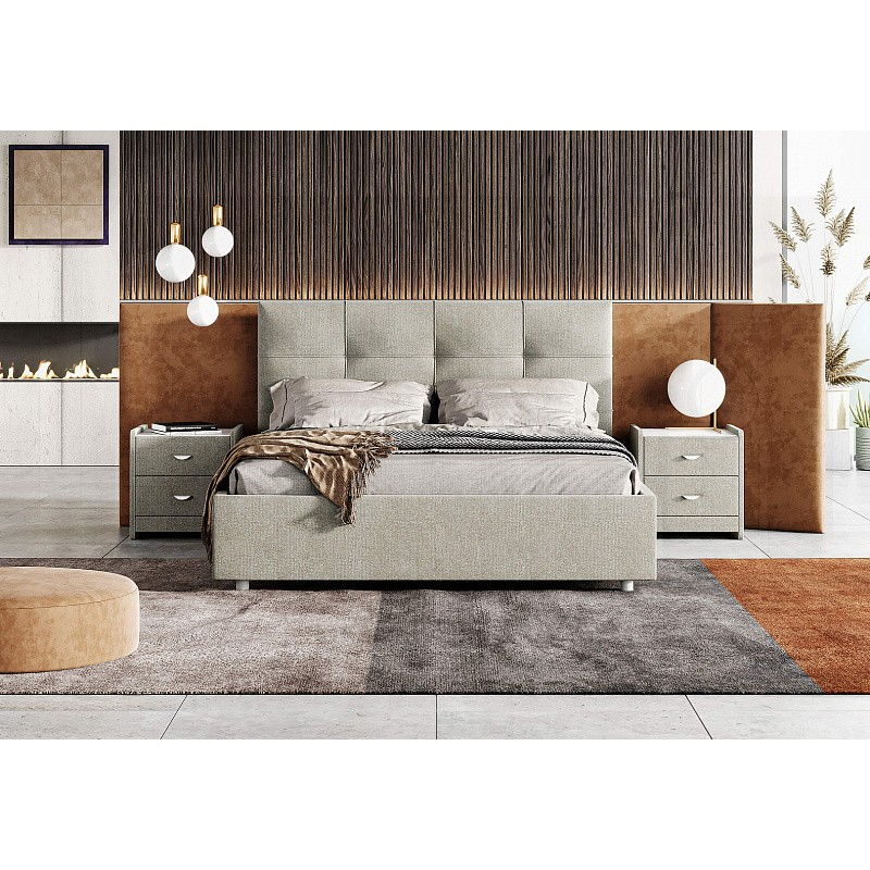 Кровать Caprice, 120x200, шинилл, пм
